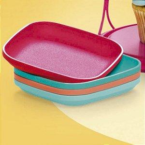 Tupperware Mini Pratinhos Colors 4 peças