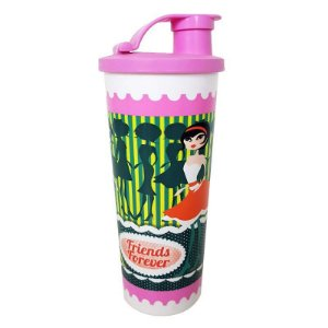 Tupperware Copo com Bico Friends Forever 470ml Rosa