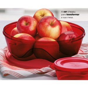 Tupperware Tigela Design 3,5 Litros Marsala