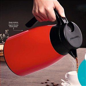 Garrafa de Café Térmica Tupperware Easy Tupper 1 litro Vermelho