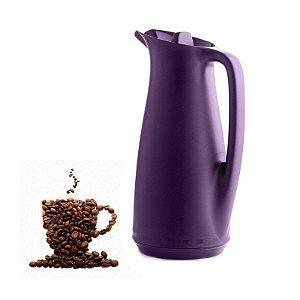 Tupperware Garrafa Térmica 1 litro Roxa Café Chá
