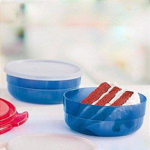 Tupperware Tigela Premier Azul Kit 2 peças