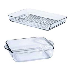 Tupperware Refracware Travessa de Vidro kit 2 peças