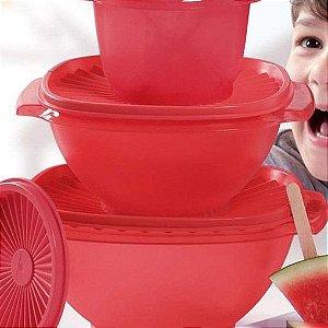 Tupperware Tigela Sensação 1,2 litro Vermelha