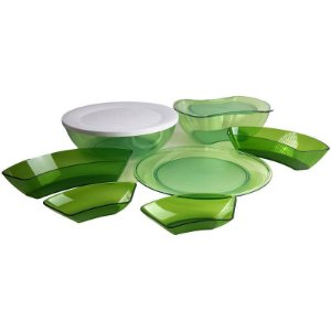 Tupperware Dominó kit 6 peças Policarbonato Verde