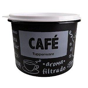 Tupperware Caixa Café PB 700g tampa Branca