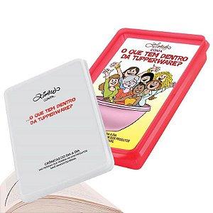 Tupperware Refri Box N°2 + Livro do Ziraldo 1,5 litro Vermelho