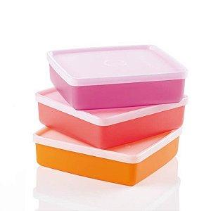 Tupperware Refri Box 400ml kit 3 Peças Colorido