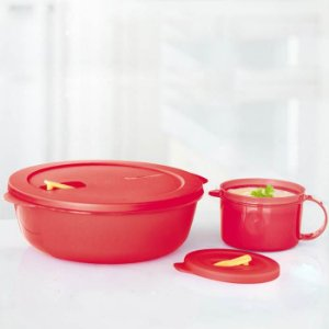 Tupperware Cristalwave + Caneca kit 2 Peças Vermelha