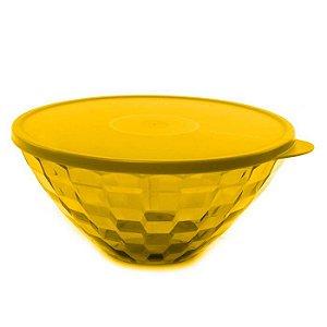Tupperware Tigela Prisma 3,5 Litros Policarbonato Transparente Amarelo