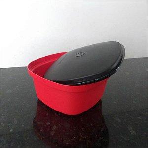 Tupperware Travessa Quadrada Actualité 2,5 Litros Vermelha e Preta