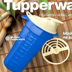 Tupperware Quick Shake Plus Azul 500ml