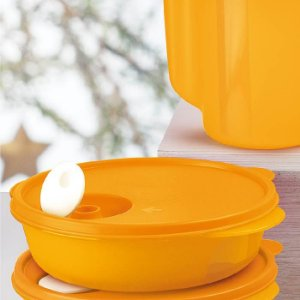 Tupperware Cristalwave 1 litro Papaya