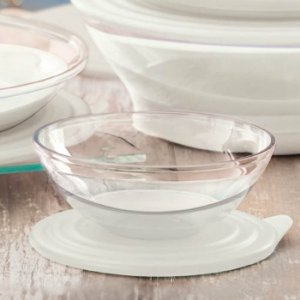 Tupperware Tigela Elegância 600ml Tranparente e Branco