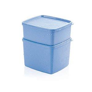 Tupperware Jeitosinho + Jeitoso Azul Serenity Kit 2 Peças