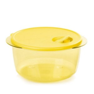 Tupperware Cristalwave 2 litros Amarela Policarbonato