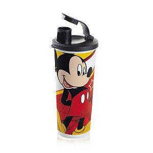 Tupperware Copo com Bico Mickey 470ml Tampa Preta