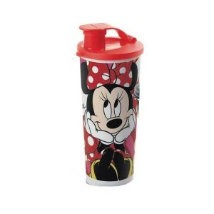 Tupperware Copo com Bico Minnie 470ml Tampa Vermelha