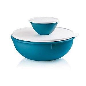 Tupperware Saladeira 6,5 Litros + Tigela Maravilhosa 500ml Turmalina Kit 2 Peças