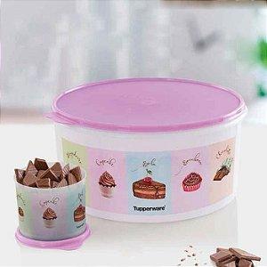 Tupperware Redondinha Chocolate 500ml + Porta Tudo Chocolate 10 Litros kit 2 Peças