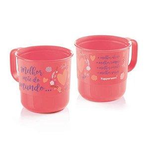 Tupperware Caneca Melhor Mãe do Mundo 350ml Rosa