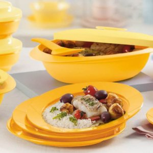 Tupperware Prato Outdoor Amarelo
