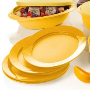 Tupperware Pratos Outdoor kit 4 Peças Amarelo