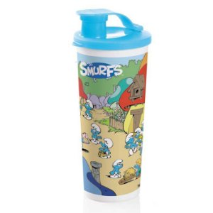 Tupperware Copo Com Bico Smurf 470ml