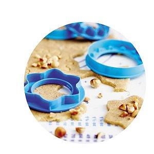 Tupperware Formas para Bolachas kit 2 Peças Azul