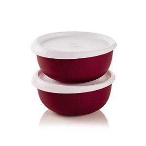 Tupperware Tigela Toque Mágico Marsala 550ml kit 2 peças