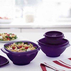 Tupperware Tigela Sensação Púrpura kit 3 Peças