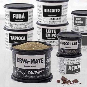 Tupperware Caixa Erva Mate + Redondinha Chocolate e Açúcar PB kit 3 Peças