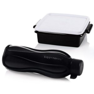 Tupperware Eco Tupper + Pote Jet Black kit 2 peças