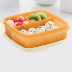 Tupperware Basic Line Com Divisórias Mango 550ml