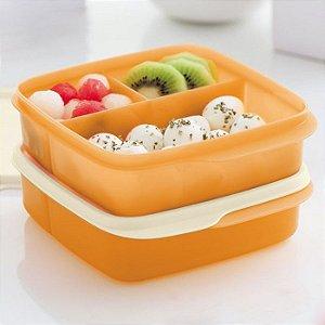 Tupperware Basic Line Com Divisórias Mango 550ml kit 2 peças