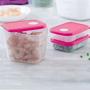 Tupperware Freezertime Rosa kit 3 peças