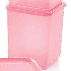 Tupperware Refri Line Quadrado Rosa Quartzo 1,8 litro