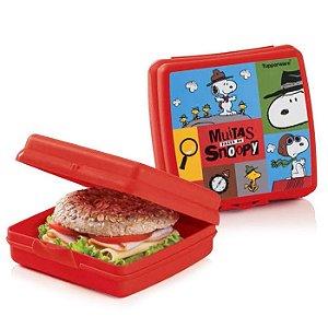 Tupperware Porta Sanduíche Snoopy Vermelho