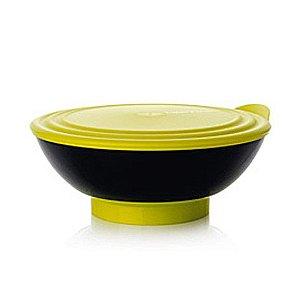 Tupperware Tigela Elegância 1,5 litro Preta Verde
