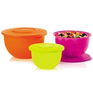 Tupperware Tigela Murano Neon kit 3 peças