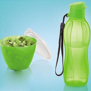 Tupperware Eco Tupper Garrafa Plus 500ml + Caçulinha Verde Neon 400ml