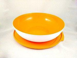 Tupperware Tigela Allegra 3,5 litros Amarelo e Branco
