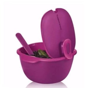 Tupperware Travessa Thermo Tup 3,25 litros Rosa + Colher