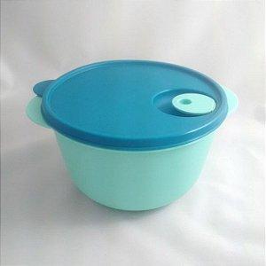Tupperware Cristalwave 2 litros Verde Mint e tampa Azul