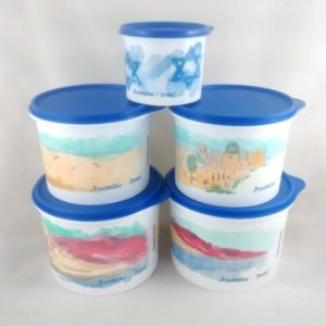 Tupperware Caixa Israel kit 5 peças