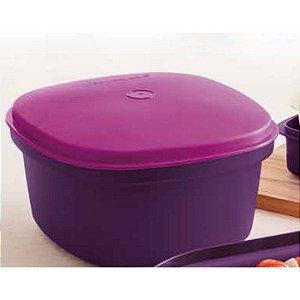 Tupperware Travessa Quadrada Actualité 2,5 litro Roxo e Rosa