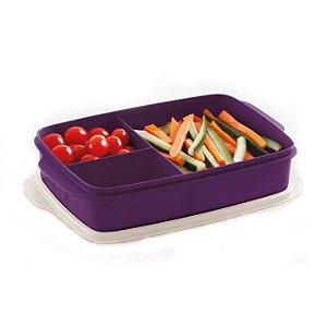 Tupperware Basic Line Com Divisórias 1 litro Púrpura
