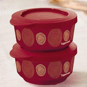 Tupperware Tigela Ilúmina Fios de Ouro 200ml 2 peças Marsala