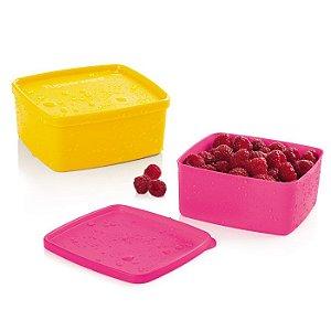 Tupperware Jeitosinho Maracujá Pink 500ml kit 2 peças
