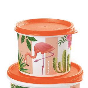 Tupperware Redondinha Flamingo 500ml Laranja